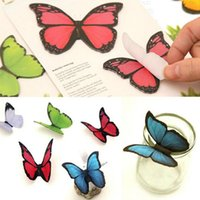 Wholesale pages set Stationery Planner Stickers Butterfly Sticker Bookmark Marker Memo Index Tab Flags Sticky Notes