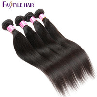 Wholesale Super Price - Fastyle Wholesale Indian Straight 4pc lot Brazilian Peruvian Malaysian Mink Virgin Human Hair Bundles Super Quality Reasonable Price Dyeable