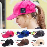 Wholesale Cap Long Visor - Sport Music Hat Unisex Bluetooth Earphone Hat Baseball Cap Sun Visor Leisure Hats Outdoor Long Time Music Playing Music Caps For Smartphones