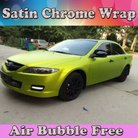 Satin Chrom Kalk Vinyl Wrap mit Air Bubble Free Chrome matt metallic blau Auto Wrap Film Styling Folie 1,52 * 20M / Roll (5ftx66ft)