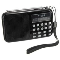 Venta al por mayor-Mini portátil recargable Digital LED panel estéreo FM radio altavoz USB TF mirco para SD Card MP3 reproductor de música