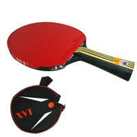 Wholesale Tennis Rackets Covers - NEW ARRIVAL XVT 40+ BLACK WOOD Hand-Assemble table tennis racket PINGPONG paddle Send Half Cover case