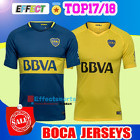 Wholesale Boca Juniors Shorts - Thai quality 2017 2018 Boca Juniors Soccer Jerseys 17 18 GAGO OSVALDO CARLITOS PEREZ P HOME Blue AWAY Yellow Argentina Club Football shirts