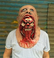 Wholesale Cheap Scary Halloween Costumes - Cheap Adult Horror Halloween Cosplay Latex Costume Bloody Zombie Mask Melting Full Face Walking Dead Scary Carnival Mardi Gras Party Masks