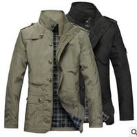 ingrosso vendita coreana del cappotto-All'ingrosso 2016 primavera autunno nuovo coreano modelli Slim esplosione vendita calda uomini giacca a vento cappotto di alta qualità giacca a vento a buon mercato all'ingrosso