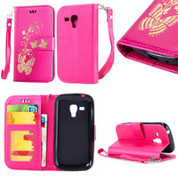 Wholesale 7562 Phone - Flip Case for Samsung Galaxy S Duos S7562 7562 GT-S7562 Phone Leather Cover for Samsung Galaxy S Duos 2 S7582 7582 GT-S7582 Case