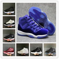 Wholesale B 47 72 - Wholesale High quality Air Retro 11 72-10 Bred Space jam concord men basketball shoes gamma blue legend women sports sneakers size 36-47