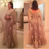 Wholesale Jewel Designs For Dresses - 2017 New Design Tulle Lace Cowl Mother of the Bride Dresses for Weddings Long Plus Size Formal Women Evening Party Gowns