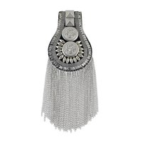 Wholesale Cool Brooches - 1pc Hip Hop Jewelry for Women Men Cool Steampunk Black Silver Color Waterfall Tassel Chain Button Brooch Shoulder board