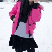 Wholesale Duck Down Jacket Parka - Winter Down Hooded Jacket Women Bomber Warm Coat Chilliwackbomber Female Canada Outdoor Jackets Parkas Good Sale High Quality