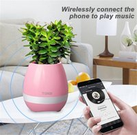 Pflanze Töpfe Smart Wireless Bluetooth Lautsprecher Büro Mini bunten LED Licht Touch Piano Musik Universal Phone Subwoofer Flowerpot Lautsprecher
