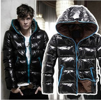 Wholesale Design Jacket For Women - Wholesale- Free Shipping Winter Down Jacket for Man and Woman Shiny Short Design Hoodied Fashion Down Coat JK-111