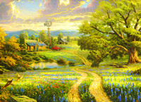 Wholesale Knife Landscape Paintings - Paintings The Wizard of Oz -PALETTE KNIFE Figure By Artists Home Decorative Art Picture Printed On Canvas