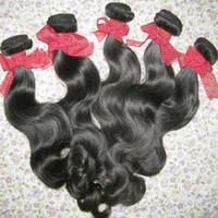 extensões de cabelo de longa duração venda por atacado-Raw Não Transformados Extensões Do Cabelo de Alta Qualidade Onda Do Corpo Filipino 3 pacotes lidar com longa duração beleza