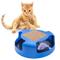 Pet Tools Paws Pals Gatto giocattolo Interactive Training Exercise Gatto Kitten Mouse Gioca Giocattoli con Turbo Scratching Post Pad