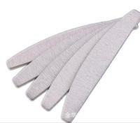 uñas luna al por mayor-Al por mayor-50Pcs 2-Sides Zebra Moon Nail Art Lijado Polaco Acrílico Bloque Buffer Manicure Tips # 150, envío gratis (NB014-F2100)