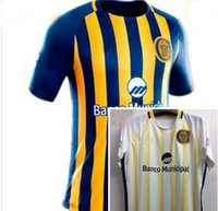 Wholesale Central Homes - Top Thai quality 17 18 Argentina Rosario Central yellow home Olives jersey 2017 2018 Rosario Central away white Olives jersey men shirt