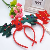 Wholesale Hair Manufacturers Yiwu - Hot children Christmas ornaments three-dimensional Christmas tree bell children's hair hoop lovely Yiwu headdress manufacturers wholesale