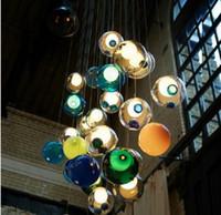 lmpara de colores de vidrio de la lmpara g lmpara de led de esferas de cristal colorido lmpara moderna lmparas de cristal de la burbuja led del color