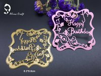 Wholesale Paper Crafts Templates - METAL CUTTING DIES DIY Scrapbook album PAPER CRAFT embossing stencils template letters happy birthday flower frame cutter