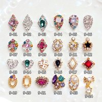 Wholesale Nail Bows Dangle - New Nail Art Rhinestone Nail Art Decorations optional Nails Tips Dangle Jewelry Nail Arts Decoration 3d Bows Sweet Style