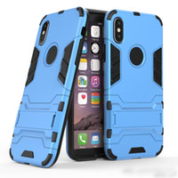 Wholesale ironman apple for sale – best Iron man Kickstand Armor Case For Iphone X Hybrid Shockproof Hard Plastic TPU Ironman Skin Holder Defender Back Cover