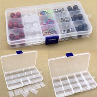 15 Slot Plastic Jewelry Compartiments réglables Box Case Craft Organizer Perles de stockage LZ0208