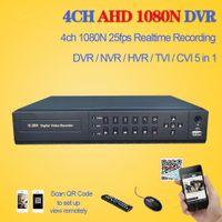 dvr kaydediciler toptan satış-LLLOFAM HD AHD 4ch CCTV güvenlik ev DVR NVR video kaydedici HDMI 1080 p 4 kanal 3G AHD 1080N 720 P gözetim hibrid DVR 4 ses