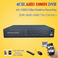 enregistreur 3g achat en gros de-LLLOFAM HD AHD 4ch CCTV sécurité maison DVR NVR enregistreur vidéo HDMI 1080p 4channel 3G AHD 1080N 720P surveillance hybride DVR 4 audio
