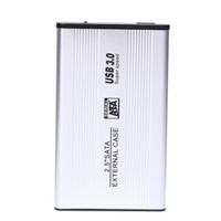 unidad de disco duro de almacenamiento al por mayor-Venta al por mayor- NI5L USB 3.0 SATA External HDD Case Plata aluminio 2.5 pulgadas Disco duro Disk Storage Recinto caja con cable USB 3.0 Screwdrive
