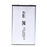 Wholesale usb drive storage cases resale online - NI5L USB SATA External HDD Case Silver Aluminum Inch Hard Drive Disk Storage Enclosure Box with USB Cable Screwdrive