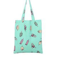 Wholesale Skull Pattern Bag - Wholesale- 2016 New Heart Stars Lip Pattern Cotton Linen Canvas Bags   33*38cm bolsa compra plegable Eco Women Shoulder Bag Shopping Tote