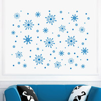 Wholesale snowflake vinyl window stickers - Merry Christmas Beautiful Frozen Snowflake Snow Wall Decals Window Decor Home Decorative Wall Sticker Mural MC028