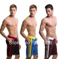 Wholesale Board Shorts Fabric - Wholesale- Hot New Men's Home Shorts Household Boxer Shorts with Waist Tie Quick Dry Sweat Trunks Mesh fabric for Men Board Shorts