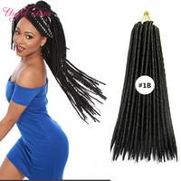 Wholesale hair braiding hairstyles resale online - 120g faux locs braids for black ladies crochet braids syntheitc hair extension braiding braid hairstyles inch braiding freetres