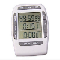 Wholesale Timer 24 Hours Digital - by DHL or EMS 50 pcs Digital LCD Multi-Channel Timer CountDown Laboratory 3 Channel Timers 99 Hours