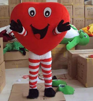 Wholesale Spandex Valentine - 2017 brand new valentines day outfits heart costume mascot cartoon character mascots for sale