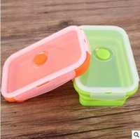 Wholesale Camping Food Containers - 750ml Foldable Silicone Lunch Boxes Food Storage Containers Household Food Fruits Holder Camping Road Trip Portable Houseware Kitchen