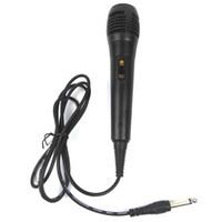 voz para computadora al por mayor-Micrófono dinámico con cable unidireccional para grabación de voz Máquina de cantar Sistemas de karaoke y computadoras KTV + B