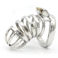 Wholesale Chastity Long - New Male Chastity Device Long Bird Cage Stainless Steel Chastity cage A276
