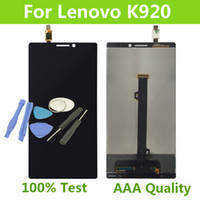 """Wholesale Iphone Parts Tools - Wholesale- 100% Tested For Lenovo K920 LCD Vibe Z2 pro LCD Display Touch Screen Digitizer Assembly Replacement Parts 6""""+free tools"""
