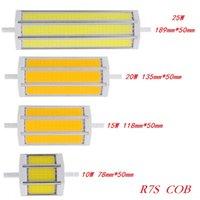 Wholesale R7s Cob - Wholesale- R7S COB led bulb Dimmable R7S led lights 78mm 118mm 135mm 189mm 10W 15W 20W 25W lighting lamp 85-265V replace halogen floodlight
