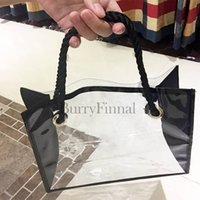 Wholesale Transparent Clear Tote - Fashion brand transparent shoulder bag luxury handbag beauty clutch bag designer tote shopping beach swim clear purse boutique VIP gift