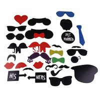 Wholesale Glasses Props For Photo Booth - Lovely Photo Booth Props 31 Pcs Set For Wedding  Birthday Party Photo Booth Props Glasses Mustache Lip On A Stick