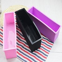 Wholesale loaf bakeware resale online - Newest Rectangle Pastry Toast Bread Loaf Cake Silicone Mold CM Soap Loaf Molds Soap Molds Pastry Cake Baking Bakeware