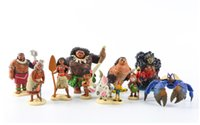 Wholesale set New Movie Moana Princess Maui Pua Heihei Tamatoa Tala Chief Tui Decor Toys Christmas Gifts and Toy Dolls