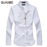 Wholesale Men S Linen Dress Shirts - Wholesale- Men camisas casual 2017 New Fashion white-shirt Men's long-sleeved shirt slim fit linen shirts men business shirts Plus size 6xl