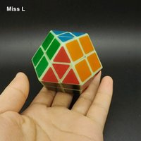 Arc-en-ciel Magic Cube Fluorescent Green Puzzle Vitesse Classic Toys Kids Learning Education Intelligence Mind Game Anti Stress Christmas Gift