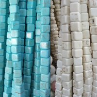 Wholesale stone necklace materials resale online - 5 mm Natural Stone Turquoises Beads Loose Spacer Beads fit for Bracelet Necklace DIY Craft Handwork Show Material Stone Bead