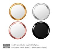 Nova chave de alumínio Key Portector Ring Sticker Touch ID Button Metal Round para iPhone 7 6 6s Plus 5 5s 4 4s